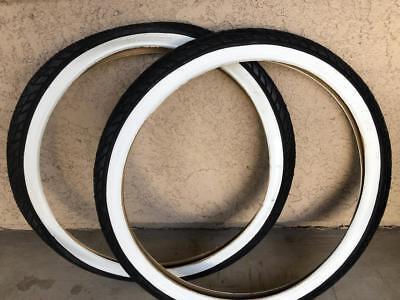 2 DURO BEACH CRUISER BICYCLE TIRES,26X2.125,BLUE/&W.WALLS,DIAMOND PATTERN /&TUBES