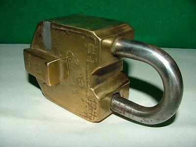 Eder & Co   10 Lever Brass Padlock,  No Key