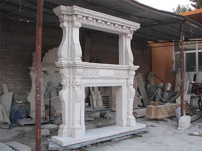 Large Estate Hand Carved Fireplace Mantel - Fireplace Mantel - Monumental Mantel 3