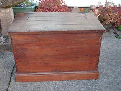Large Antique  Pine  Chest / Bedding  Box 2
