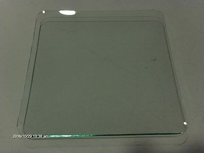 """NEW REPLACEMENT CONVEX CLOCK or CRAFTING GLASS NOS  7 3/4"""" Square 3/4"""" rise 6"""