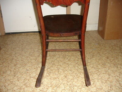 Beautiful Antique Wooden Rocking Chair 7