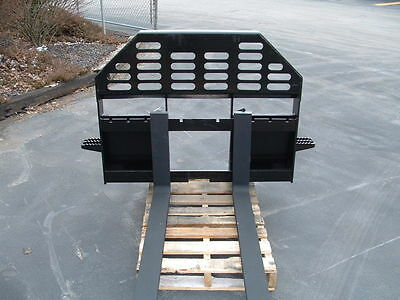New Heavy Duty Pallet Forks for Skid Steer Fits Universal Couplers Skidsteer