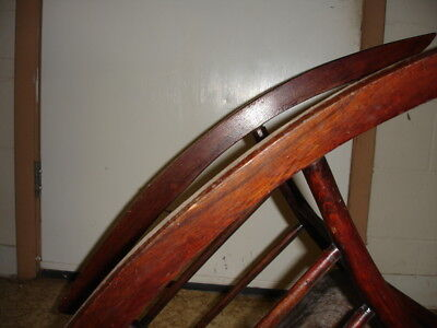 Beautiful Antique Wooden Rocking Chair 12