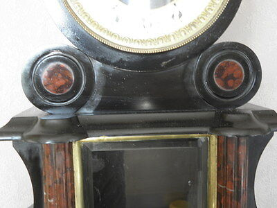 antique clock marbre century mounted marble red mantel for clock old french uhr 6
