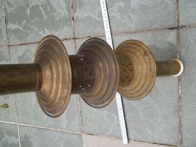 Rohr Metall Pumpe alt Antiquität Stab mit Löcher Holzboden Holzgriff rund Sammle 6