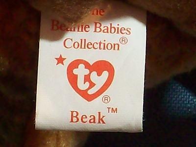 Beanie Baby Bird Kiwi Beak Brown Date Of Birth: February 3, 1998  1998   Ty Inc.