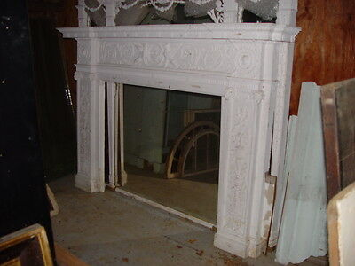 Fireplace Surround Mantel Fluted Columns Wall Panels Full Mansion Room Adams Sty 8