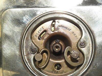 vintage clock alarm Bayard retro desk  Art Deco design Mechanics uhr old bauhaus 11
