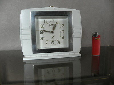 vintage clock alarm blangy retro desk  Art Deco design  Mechanics uhr old french 10