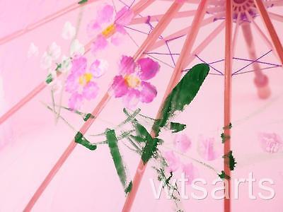 Medium Chinese Floral Parasol Geisha Umbrella - 83cm Dia 2