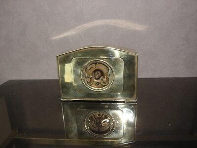 vintage clock alarm Bayard retro desk  Art Deco design Mechanics uhr old bauhaus 9