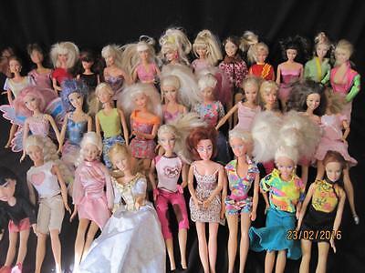 Huge 32 Barbie Doll lot Mattel,  Disney, Bratz some vintage