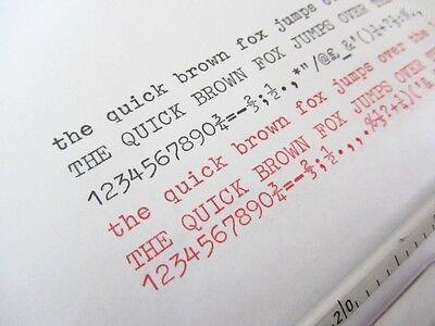 'Beaucourt Script' *black/red* Top Quality *10 Metre* Typewriter Ribbon+Eyelets 2