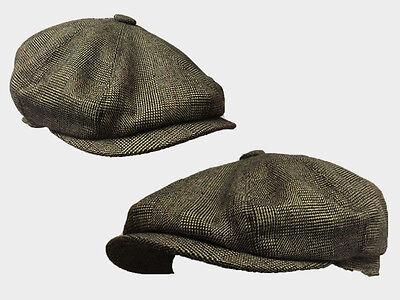 8 Panel Peaky blinder  Brown  pattern 8 panel News boy baker boy gatsby 1920s