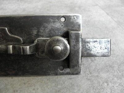 Antique Wrought Iron Sliding Bolt/Lock Plank Door ornate Latch Lock STEEL retro 4