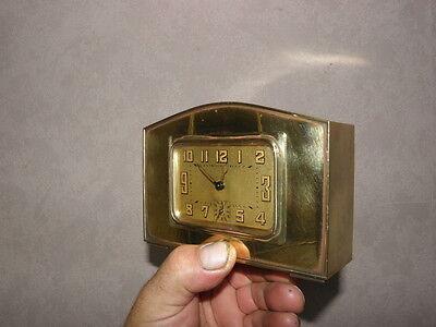 vintage clock alarm Bayard retro desk  Art Deco design Mechanics uhr old bauhaus 10