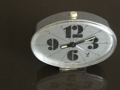 vintage clock alarm jaz retro desk  Art Deco design 70 FASHION pop Mechanics uhr 7