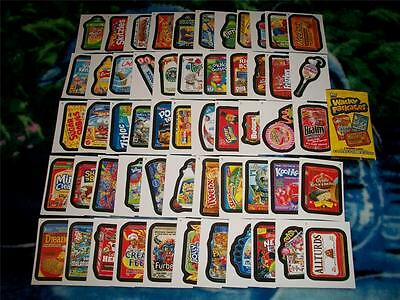 2014 Wacky Packages Series 1 Complete 55 Sticker Card Set 2