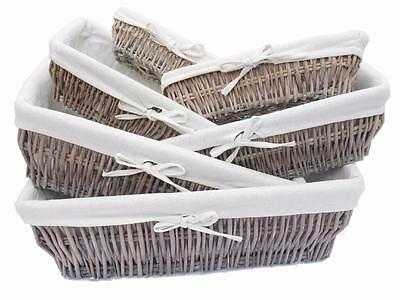 1 of 12FREE Shipping Full Wicker Strong Wider Shallow Wicker Storage Basket Xmas H&er Basket Gift  sc 1 st  PicClick UK & FULL WICKER STRONG Wider Shallow Wicker Storage Basket Xmas Hamper ...