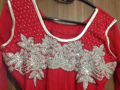 Dress Ladies Churidar Suit Asian Long Churidaar Bollywood Wedding Party Dress 2