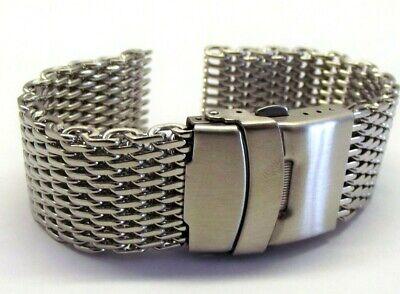 bracciale mesh shark massiccio orologi acciaio maglia milano silver ansa 20 mm 2