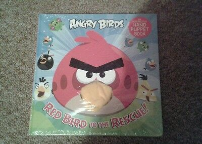 Angry Birds Snood Hat Scarf Gloves Soft Toy Book Hand Puppet Red Bird Rescue New 6