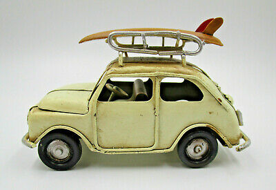 roter Fiat 500 Urlaub Blechmodell Koffer Modell Oldtimer Auto Fan Geschenk Deko