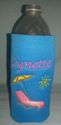 2 of 12 Design your own PERSONALIZED Water Bottle Embroidered KOOZIE Cover  many choices!