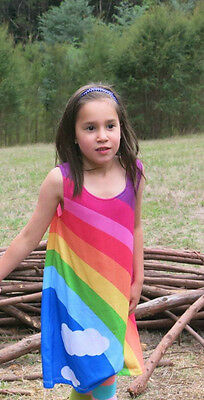 Girls dress ::Classic Rainbow   :: size 2-12 :: FREE DELIVERY