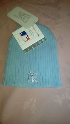 Bnwt Boys New Era Major Basketball Baseball Beanie New York Yankees Blue Osfa