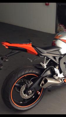 CUSTOM LIGHT ORANGE MOTORCYCLE CAR TRUCK RIM STRIPES WHEEL DECAL STICKERS TAPE Stickers, Emblems & Flags