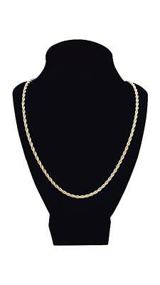 """14k Gold plated rope chain men's women's 24"""" inches necklace free shipping new 3"""