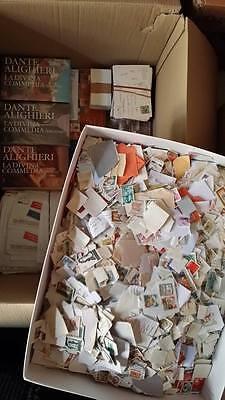 Mega Accumulo ..---Cartone Di 15 Kg Di Collezionismo Cartaceo E Francobolli 2