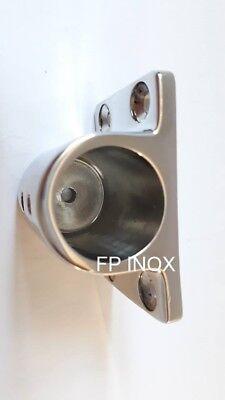 Support Tube Ø 25mm ( platine ) inox 316 / A4 4