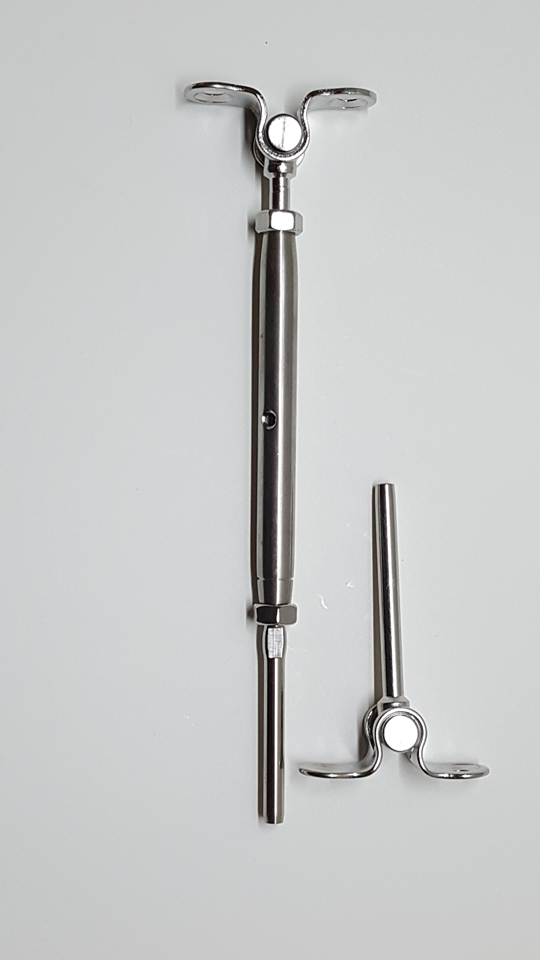 """T316 Stainless Steel Tensioner Set Cable Railing w//Deck Toggle Screws 3//16/"""""""