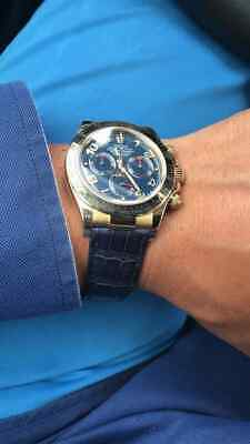 Spezzoni cinturino pelle per Rolex Daytona oro 20mm Made in Italy 10