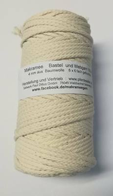 Makramee Garn Bastelgarn Makrameegarn Baumwolle Bastelseil!Made in Germany! 4 mm 2