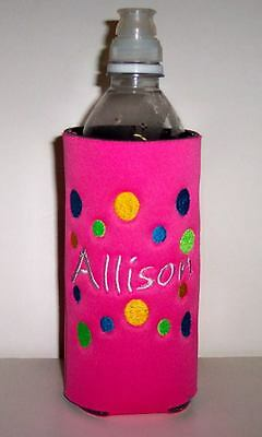10 of 12 Design your own PERSONALIZED Water Bottle Embroidered KOOZIE Cover  many choices!