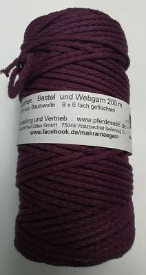 Makramee Garn Bastelgarn Makrameegarn Baumwolle Bastelseil!Made in Germany! 4 mm 3