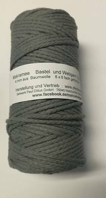 Makramee Garn Bastelgarn Makrameegarn Baumwolle Bastelseil!Made in Germany! 4 mm 4