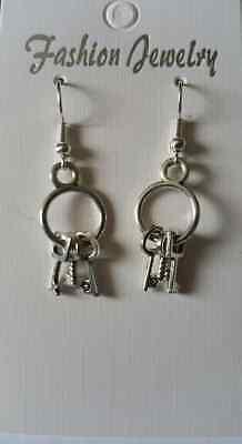 Mini Skeleton Keys Earrings Good Luck Hecate Legba