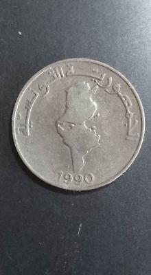 TUNISIA  1 Dinar 1990  KM319  copper-nickel 4