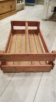 French Large Pink Tint Wooden Potato Pannier Trug Vegetable Basket Display Crate 4