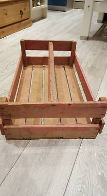 French Large Pinkish Wooden Potato Pannier Trug Vegetable Basket Display Crate.