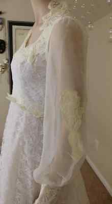 Vintage Wedding Dress Lace White And Light Yellow By Jc Penney Fashion 145 00 Picclick,Short Pastel Pink Wedding Dress