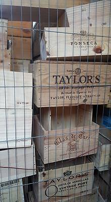 3 x ASSORTED MIXED SIZE FRENCH ITALIAN WOODEN WINE PORT CHAMPAGNE CRATE BOXES- 6