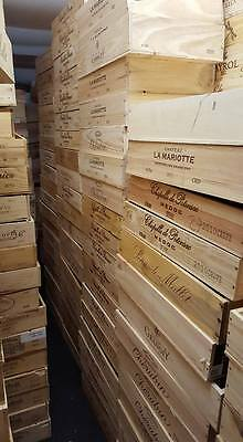 3 X French Flat Wooden Wine Crate Boxes -Retail Shop Market Museum Display Unit 6