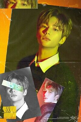 Stray Kids-[Cle 2:Yellow Wood] Normal 2 Ver SET CD+Book+Card+etc+Pre-Order+Gift 5