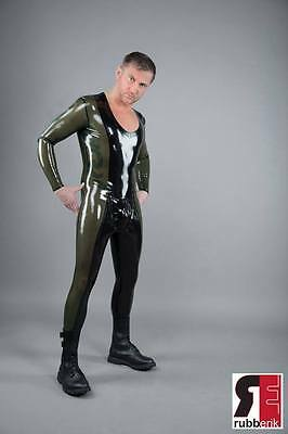 Latex Catsuit, Rubber Latex Herren Catsuit, Gr:xs - Xxl 2